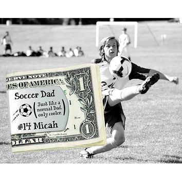 Soccer Dad Personalized Money Clip