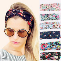 Fashion Women Turban Twist Knot Head Wrap Headband Twisted Knotted Hair Band LS