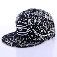 hip hop baseball cap snapback hats for men women 3 eyes cat demon print bone cap fitted snap back gorras planas hombre casquette