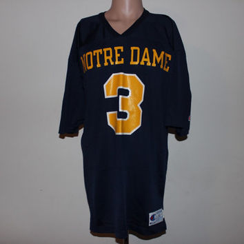Vintage Notre Dame Fighting Irish NCAA Champion Jersey M