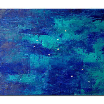 Original Oil Painting Star Leo Lion Constellation Starry Night Sky Astrology Oil on Canvas Panel ARTWORK