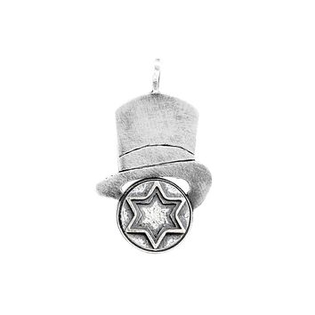 Star of David Antique Medallion Hat Necklace