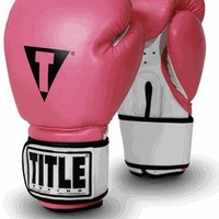 TITLE Boxing Premier Leather Super Bag Gloves - Pink/White | Women's Pink Boxing Gloves | Women's Boxing Gloves | Women's Boxing from Title Boxing