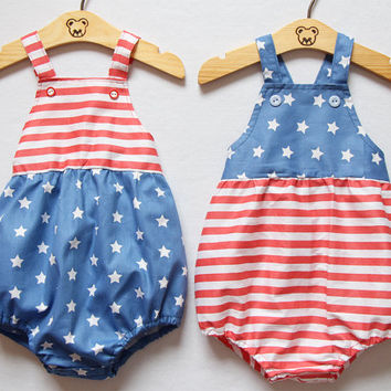 98af96a58e8 4th of July Unisex Baby Romper Baby Boy Romper Baby Girl Romper