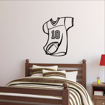 Football Jersey Wall Decal Personalized Number 22453