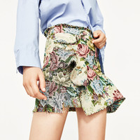 MINI SKIRT WITH FRILL - NEW IN-WOMAN | ZARA United States