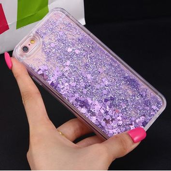 Purple Dynamic Liquid Glitter Phone Case