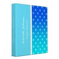 Personalized:  Blue Fade Polka-dot Binder 2 from Zazzle.com