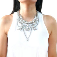 Statement Collar Multi-layer Gypsy Bohemian Silver Metalwork: Karenina Bib