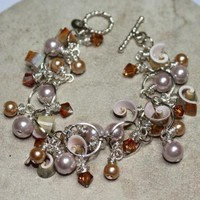 Sea Shell Inpired ChaCha Bracelet by JujuBeeJewelryDesigns