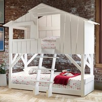 KIDS TREEHOUSE BEDROOM BUNKBED in White