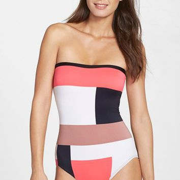 Women's kate spade new york colorblock one-piece swimsuit,