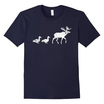 Funny Animal Pun T Shirt 2- Duck Hunting Outdoors Moose Game