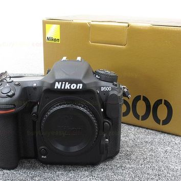 "Nikon D500 DSLR Camera -20.9MP DX-Format -4K UHD Video -3.2"" Tilting Touchscreen LCD -153-Poin AF System - Wi-F"