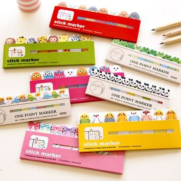 VONC1Y Kawaii Japanese Post It Scrapbooking Scrapbook Stickers Sticky Notes School Office Supplies Stationery Page Flags For Kids