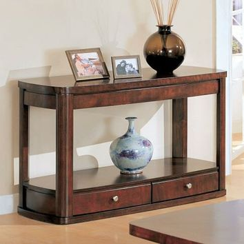 Coaster 700249 Wildon collection merlot finish wood sofa table with storage drawer