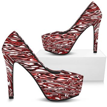 SIWUC Liquid Dream Heels (Crimson Red)