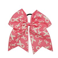 3Pcs Breast Cancer Support Cheerleading Bows