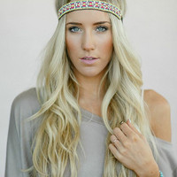 Beaded BOHO Head Piece, Beaded Headband, Bohemian, Head band, Multicolored Beads (PNM-HB-045)