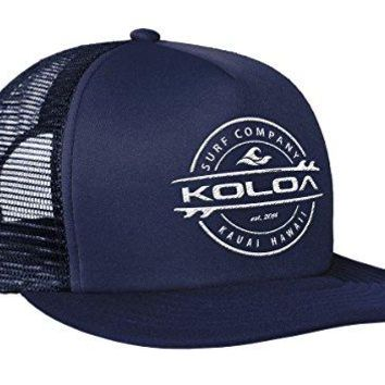 Joe's USA Koloa Surf - Thruster Surfboard Logo Mesh Back Trucker Hats in 12 Colors