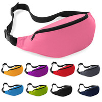 1PC Boys Girls Unisex Bag Travel Handy Hiking Sport Fanny Pack Waist Belt Zip Pouch travel casual for phone