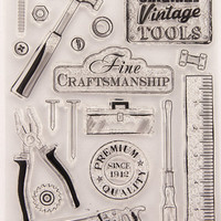 FREE SHIPPING! 18piece Workman Tools Clear Rubber Stamp Set