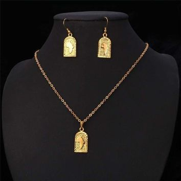 Women's Authentic African Party Jewelry Set