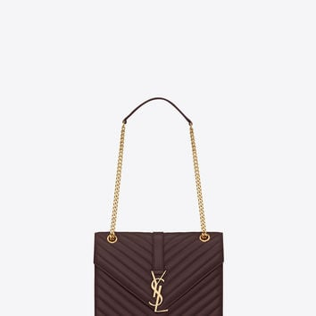Classic Medium Monogram Saint Laurent Satchel In Beige, Red And Blue Floral Woven Polyester And Cotton And Black Leather