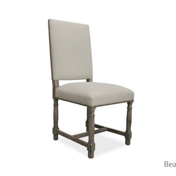 Pacific dining chair in linen blend fabric