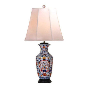 Beautiful Porcelain Imari Floral Pattern Vase Table Lamp 34""