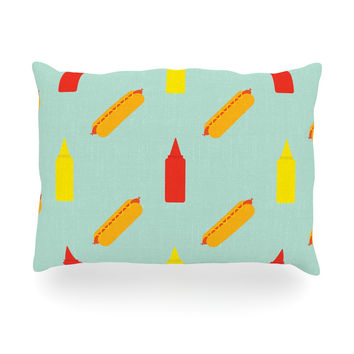 "Will Wild ""Hot Dog Pattern"" Food Oblong Pillow"