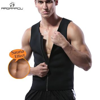 Mens Neoprene Sauna Waist Trainer Vest For Men Weight Loss Hot Body Shaper Thermo Sweat Suit Slimming Corset Compression Workout
