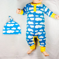 Print Christmas gift 2016 hot unisex baby clothes Long sleeves bland clothing newborn baby rompers+hat 0-24month