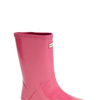 Hunter 'Kid's First Gloss' Rain Boot (Walker, Toddler & Little Kid)