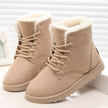 Warm Winter Snow Boots For Women Ankle Boots