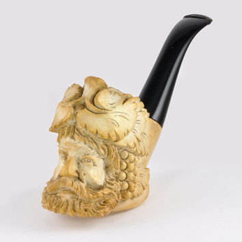Vintage Smoking Pipe - Meerschaum - Figure of Bacchus C1960s - Men's Vintage Pipe