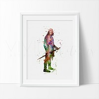 Aragorn, Lord of the Rings Watercolor Art Print