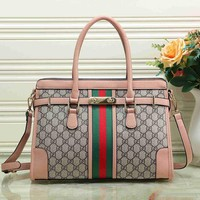 Gucci Women Fashion Leather Satchel Bag Shoulder Bag Handbag Crossbody-37