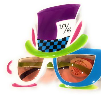 Mad Hatter Tea Party Glasses