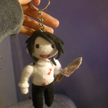 Jeff the Killer Plush Keychain