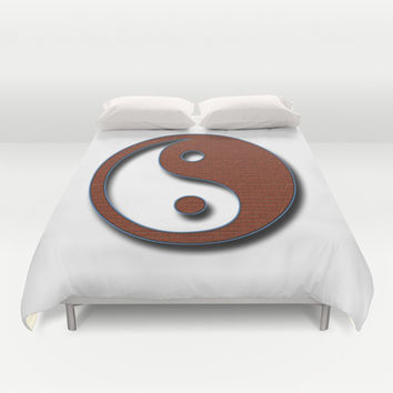 Yin Yang Duvet Cover by Inspired By Fashion
