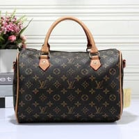 LV Women Shopping Leather Multicolor Tote Handbag Shoulder Bag