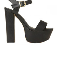 Lipstik Shoes - Prize Heel - Black