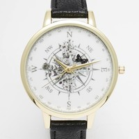 ASOS Compass Print Watch