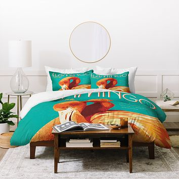 Anderson Design Group Flamingo Lounge Duvet Cover