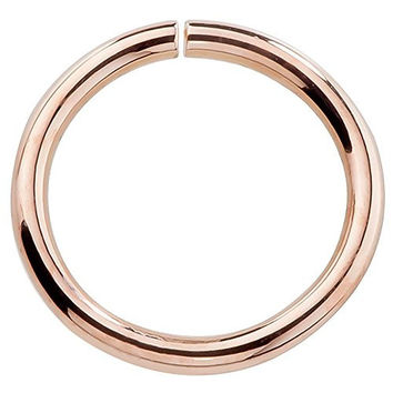 14K Rose Gold Seamless Ring Nose Cartilage or Earring Hoop 22 Gauge 1/4""
