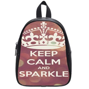 Keep Calm And Sparkle School Backpack Large