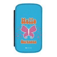 Sassy - Hello Gorgeous #10433 Premium Faux PU Leather Case for Samsung Galaxy S4 by Sassy Slang