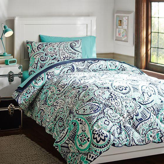 Regan Paisley Deluxe Bedding Set From Pbteen