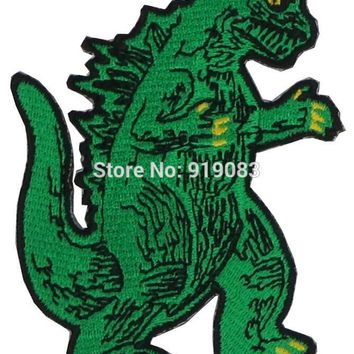 "3"" KING OF THE MONSTERS GODZILLA Patch Iron on BADGE MORALE MILITARY TV Movie Series Halloween Cosplay Costume"